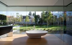 Baignoire moderne avec vue imprenable