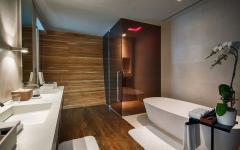 salle de bain design tropical