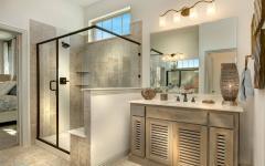 salle de bains design rustique élégant