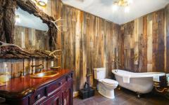 salle de bain rustique design luxe