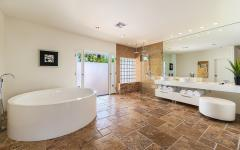 douche baignoire salle de bain design moderne