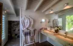 salle de bains design exotique Caraïbes