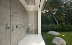 douche italienne au mur de verre propriété vue