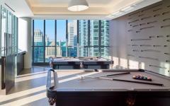 salle de billard immeuble de luxe standing