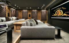 salle privée de cinéma chalet de ski courchevel