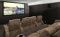 salle de ciné privée maison de luxe