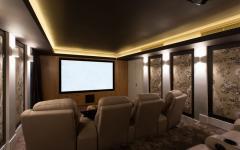salle de cinéma privée luxe design