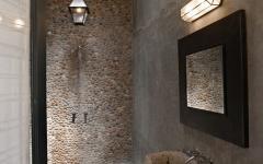 Salle de bain luxe au design très rustre