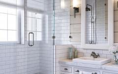 salle de bain design douche spacieuse