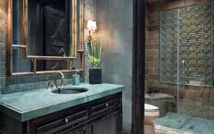 Salle de bains design luxe rustique