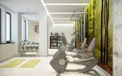 appartement de luxe salle de fitness
