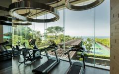 salle de fitness personnelle avec vue