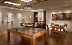 La salle des jeux l ameublement sobre convivial et surtout tr s rustique - Residence de luxe montagne locati ...