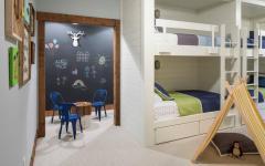 décoration idées salle de jeux chambre lits superposés enfants