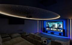home cinema salle de cinéma privée villa à louer marbella