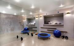 salle de gym privée maison