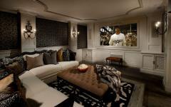 salon télé de tout confort à la maison luxe
