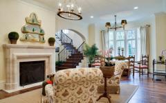 salon cheminée résidence familiale