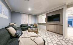 salon télé assises design sympa