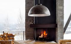 cheminée extérieure design luxe