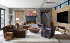 salon tv chalet familial rustique de montagne maison secondaire