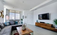 séjour meubles design appartement de vacances