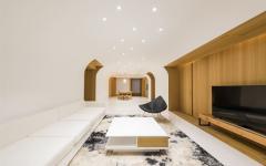 maison chic moderne aménagement futuriste épuré