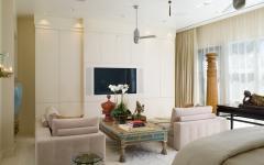 salon TV résidence de luxe