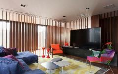 salon télé maison de ville luxe