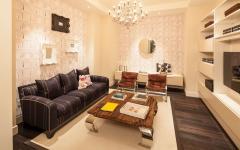 salon tv family room appartement de luxe