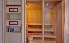 sauna bois chalet alpes luxe