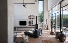 salon séjour maison aspect loft industriel moderne