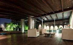 design rustique en bois exotique duplex