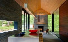 décor rustique moderne bois et pierre maison de ville