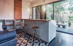 déco industrielle cuisine minimaliste location mexique