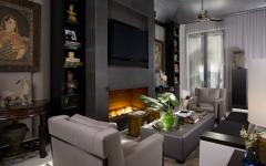 séjour design intérieur élégant classe