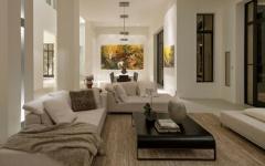 séjour design moderne maison de luxe bel air