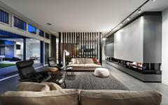 séjour living room cheminée moderne