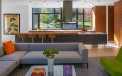 séjour mobilier moderne maison modulaire