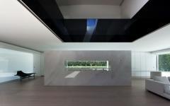 séjour grande maison futuriste contemporaine