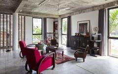 ambiance industriel béton mobilier rétro