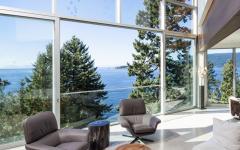 vue panoramique depuis séjour salon intérieur maison