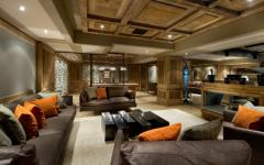 intérieur en bois massif chalet alpin courchevel
