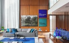 mur en bois maison de luxe citadine