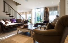 salon moderne maison familiale individuelle citadine
