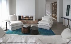 séjour living mobilier éclectique et chic