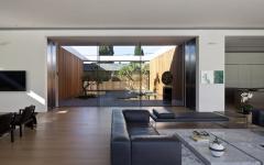 salon maison d'architecte en verre