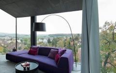 maison murs en verre vue panoramique