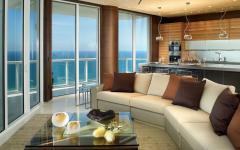 séjour avec vue sur la mer appartement luxe