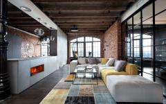 intérieur brut et masculin loft de ville design